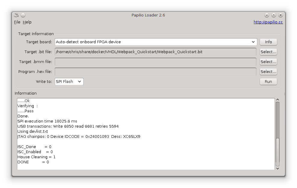 Getting started with the Papilio Pro and Xilinx ISE on Linux