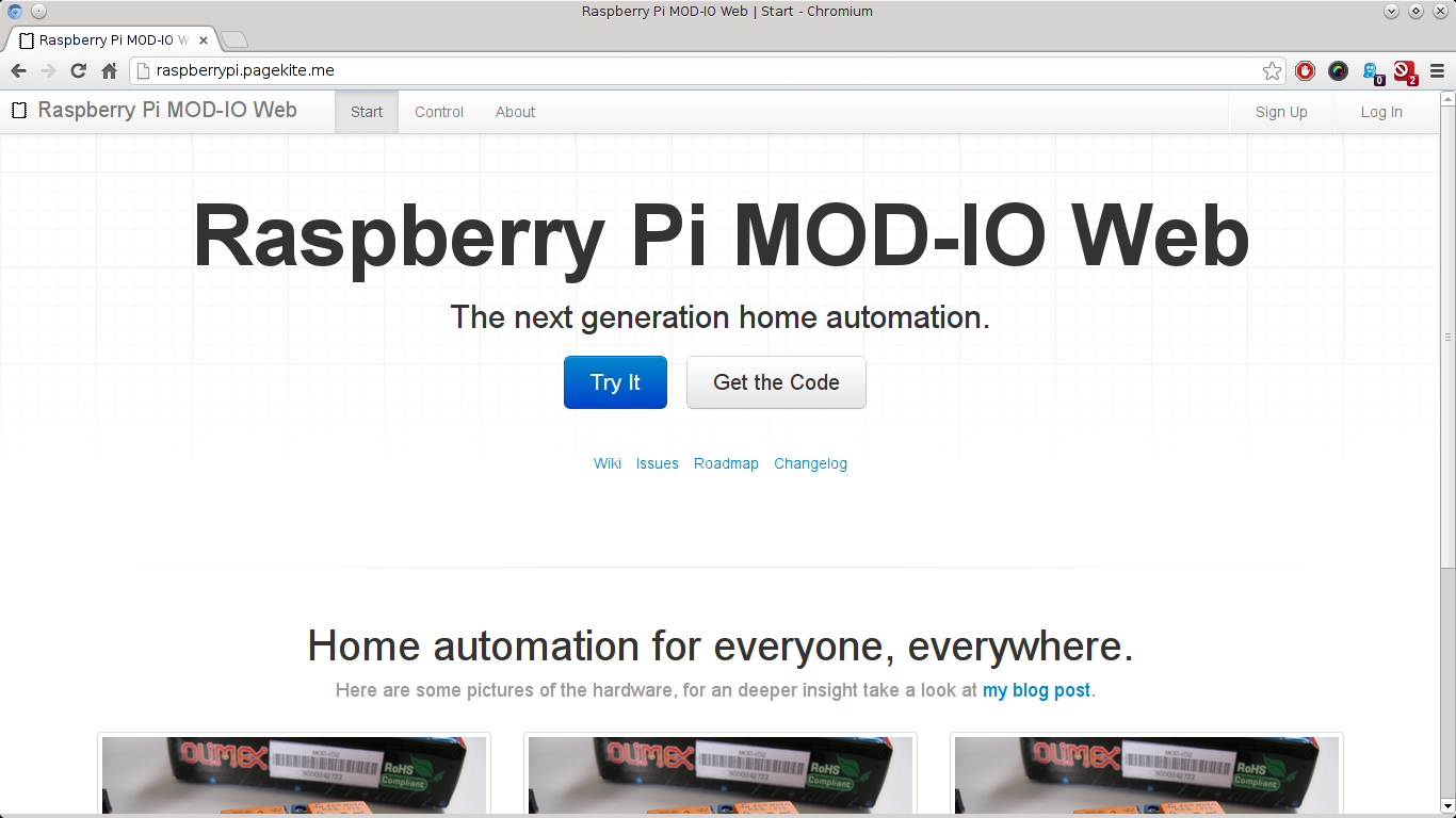 Raspberry Pi MOD-IO Web - Start