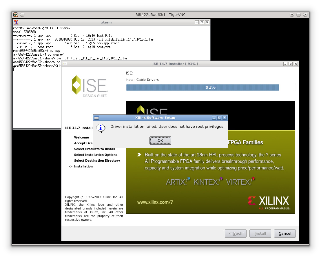 Installing Xilinx Programming Cable drivers needs root