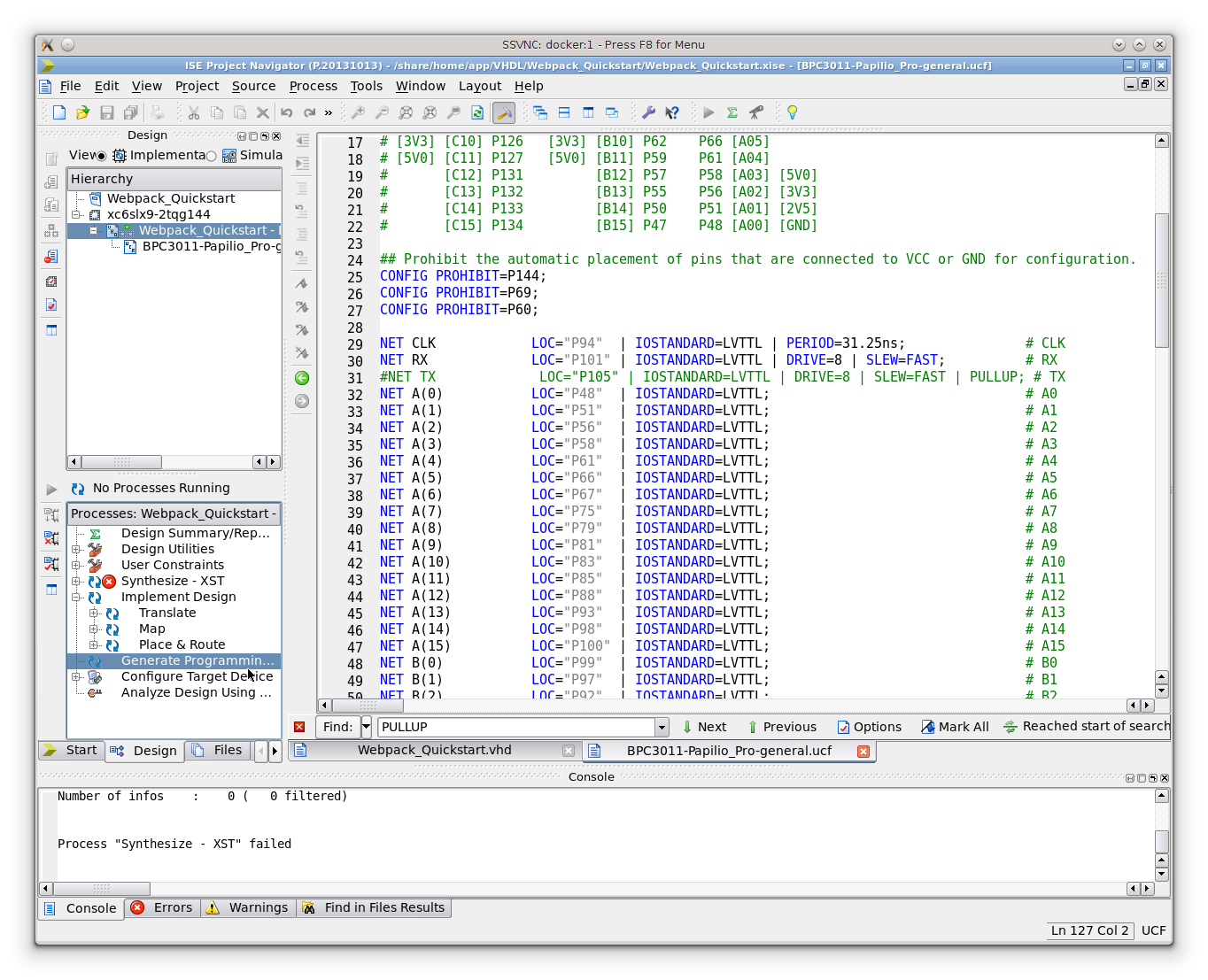 Xilinx ISE: Generate Programming File